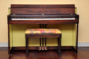 Lester Spinet acoustic upright piano retro retroactive groovy green refinish DIY 1960's 60's style used for sale rent rental gilbert mesa arizona phoenix my first gallery az